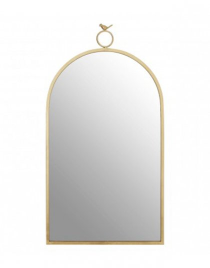 See this Farran Bird Top Wall Mirror in your home?The Farran wall mirror makes a luxurious statement with its champagne finish frame.