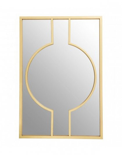 See this Farran Deco Wall Mirror in your home? Art Deco-inspired iron wall mirror with a glamorous champagne finish. W82 x D3 x H120cm