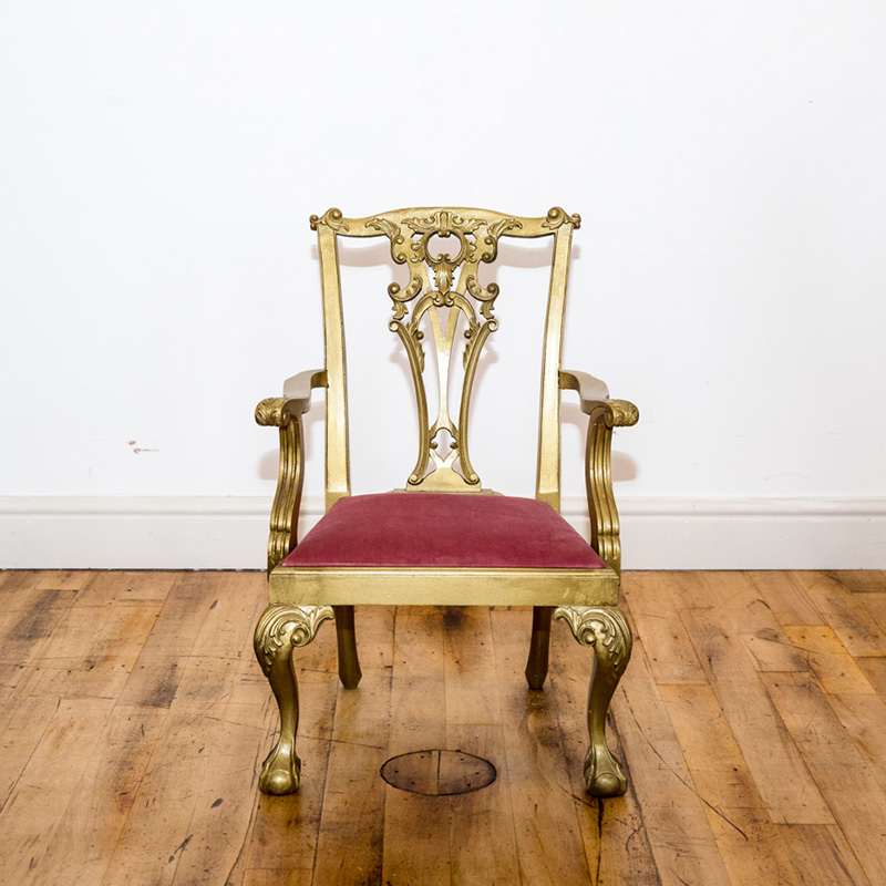 See this Bespoke Gold Finished Dining Chair in your home? This piece is the perfect addition to any seating collection with it's clean bespoke design.