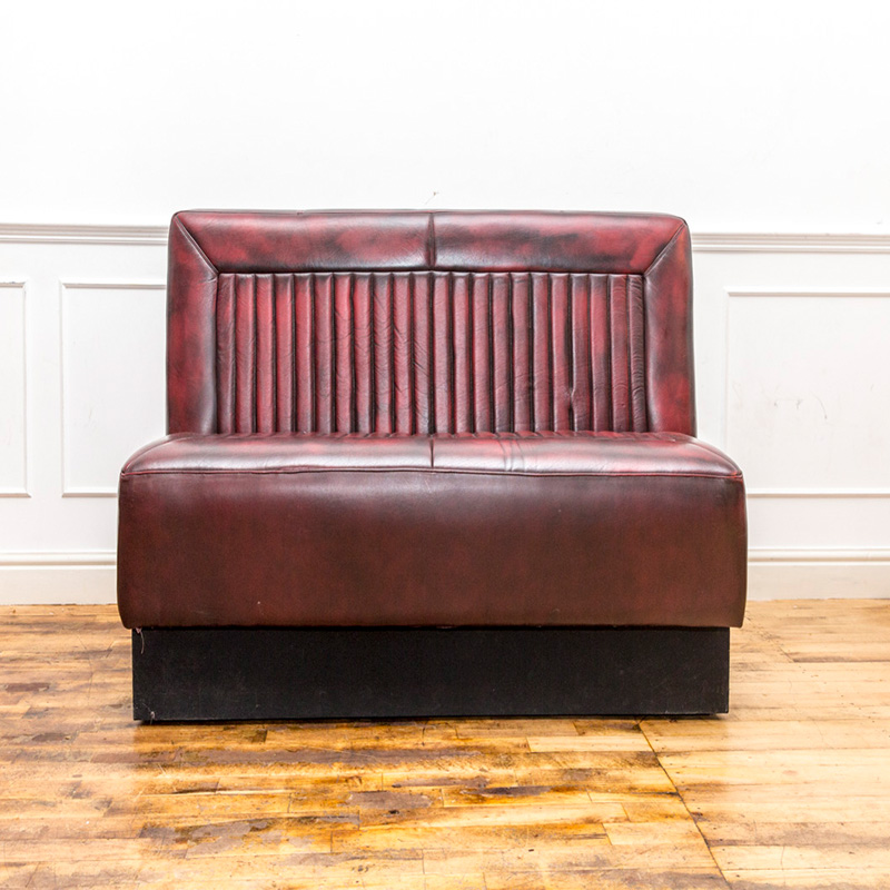 See this Vintage Deep Red Leather Bench in your home?This piece comes upholstered in deep red leather and encapsulates a beautiful vintage design.
