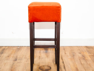 See this Bespoke Colour Bar Stool in your home? The piece comes upholstered in a bright coloured velvet. Various Colours on offer.