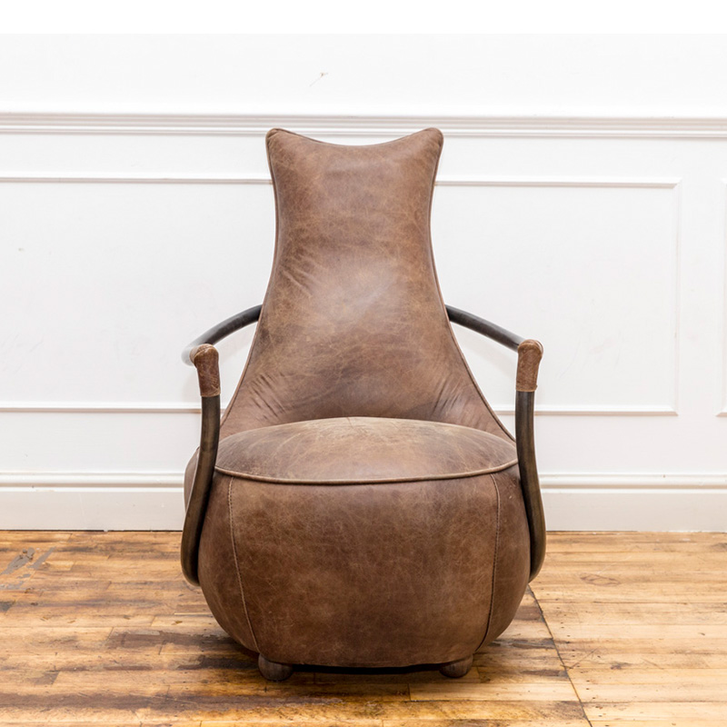 See this Maverick Retro Relax Chair in your home? The piece carries its exudes a retro laid back design and comes upholstered in classic brown leather.
