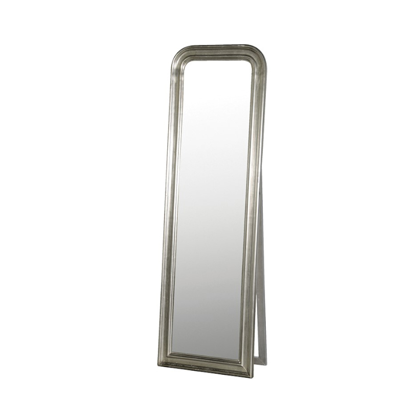 See this Silver Dressing Mirror in your homes furniture collection.This piece stands tall from the floor and exudes a clean yet elegant design.