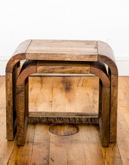 See these Small Wooden Nest of Tables in your home? This piece exudes a clean wooden design whilst fitting those smaller spaces.