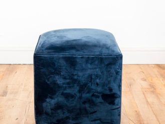 See this Blue Velvet Footstool in your home?This piece comes upholstered in Blue Velvet and is perfect as a footstool or extra seat.
