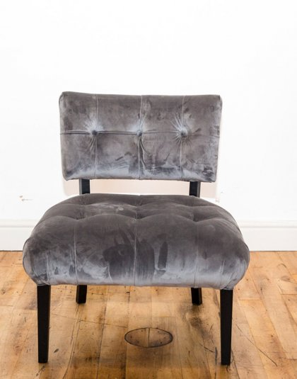 See this Bespoke Velvet Chair in your home? This piece comes upholstered in a grey house velvet with deep buttoning for extra detail.