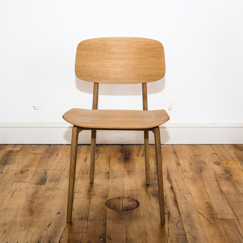 See this Norr 11 Dining Chair in your home?The piece exudes a clean design with its polished hardwood finish.Perfect for those smaller spaces.