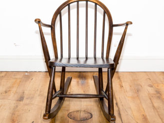 See this Wooden Rocking Chair in your home?This classic piece of furniture is just perfect for those smaller spaces needing that extra seat.