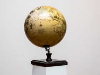 See this World Globe in your home accessories?This piece sits perfectly on a mantle or bookcase to add a rustic feel to your interior setting.