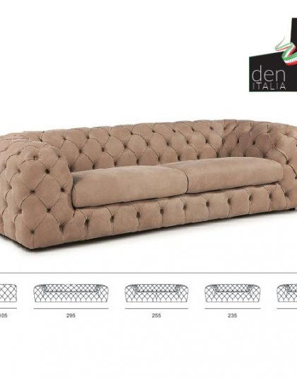 See this bespoke bach sofa in your seating collection?This piece comes upholstered in a beige velvet with deep buttoning for added detail.