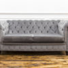 See this Grey Velvet Chesterfield in your home?This piece is upholstered in light grey velvet with dense buttoning for added detail.