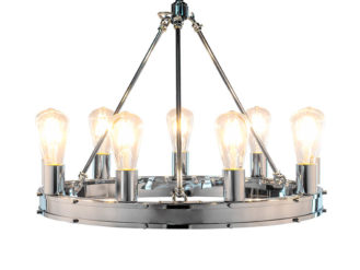 Bring a bold statement to your home with this Chrome Round Gallery Chandelier. This is the perfect addition to any lighting collection.
