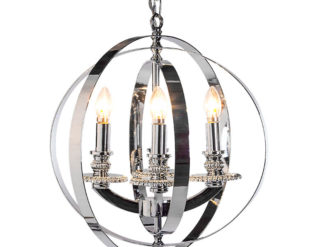 See this Medium Chrome Sphere Chandelier in your homes lighting collection?This piece exudes elegance with it's professional and unique design.