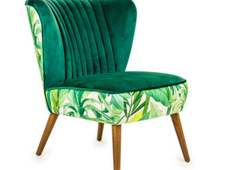 See this Tropical Green Velvet Style Winged Occasional Chair in your homes furniture collection?This piece comes upholstered in Green Velvet.