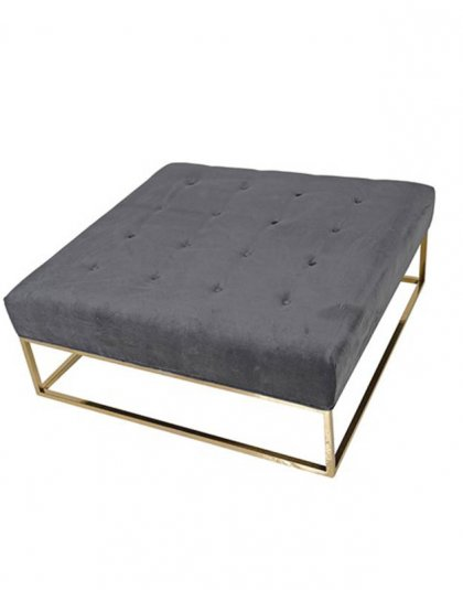 See this Velvet Ottoman Coffee Table in your home?This piece comes upholstered in grey velvet with deep buttons for added detail.