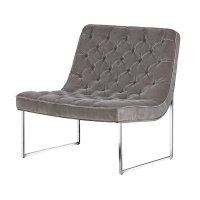 Barclay Mouse Grey Button Club Chair